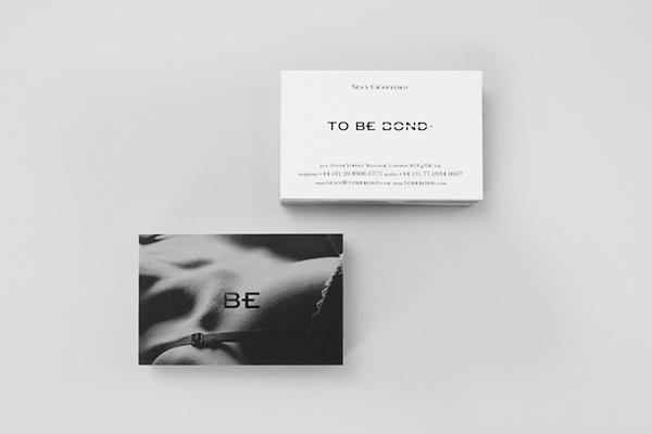 To Be Bond on Behance #business #card #photo #identity #symbol #logo #layout #foil