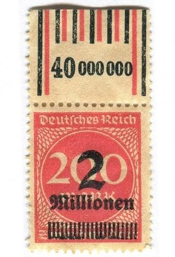 design done right. / Germany Postage Stamp: 2 millionen | Flickr - Photo Sharing! #postal #stamp #design #graphic