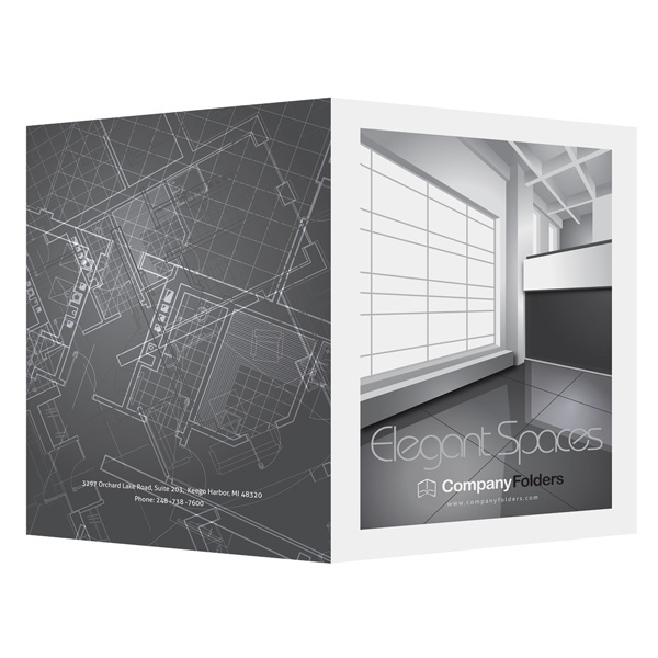 Elegant spaces architect presentation folder template for Pocket folder template illustrator