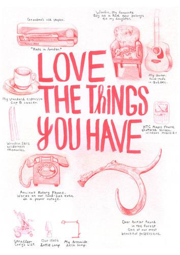 Favourite Things Art Print by Ben Weeks Easyart.com #inspiration #words #quote #print #design #art #poster #artprint