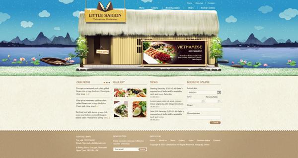 Little Saigon #hng #agency #uk #nam #thit #thng #restaurant #viet #little #hiu #saigon #studio #nh #logo #bratus #k