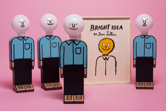 JEAN JULLIEN'BRIGHT IDEA' homepageOur first release with Jean Jullien :'Bright Idea', a wooden lamp hand painted in the artist's s