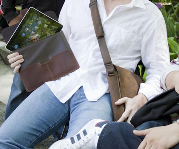 Hughes Leather Portfolio Sleeve for iPad #ipad #case #sleeve