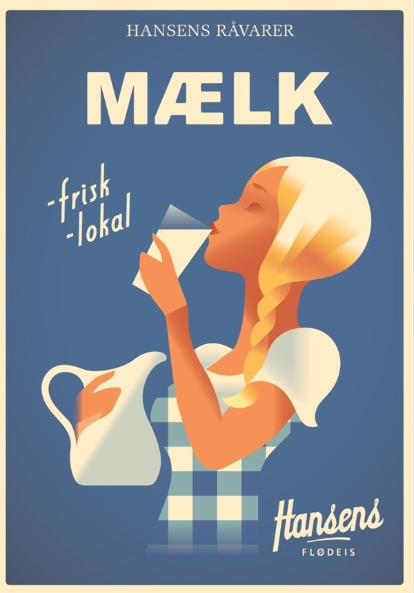 Hansens Posters 2013 #berg #mads #illustration #milk #dutch