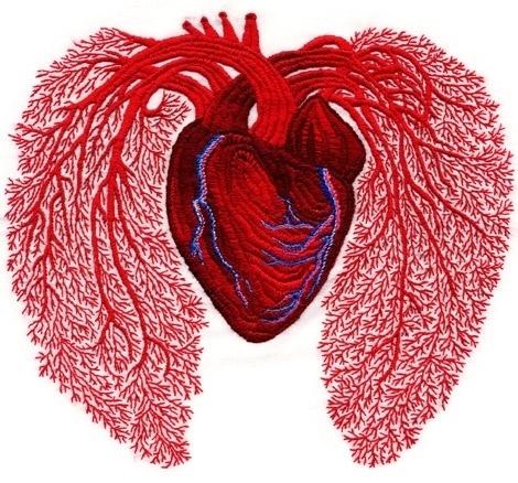 Andrea Dezso Illustration #heart #craft #art #embroidery