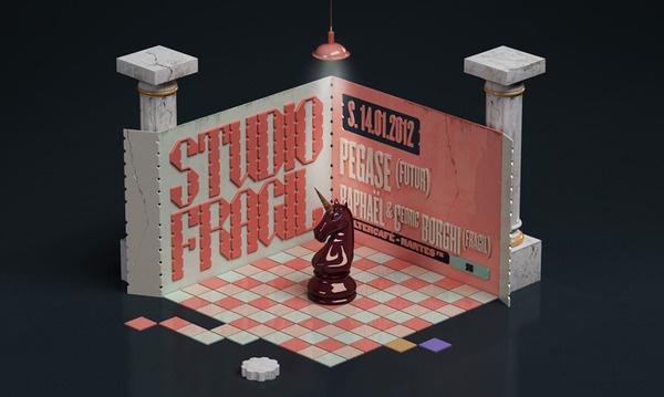 Studio Fragil PLASTICBIONIC ::: Art direction, Graphic Design #chess #3d #studio #rendering