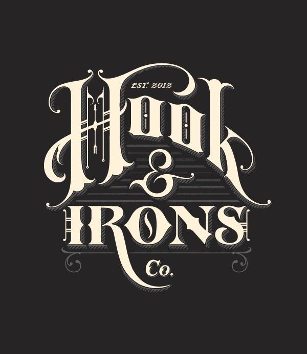 HOOK & IRONS #lettering #branding
