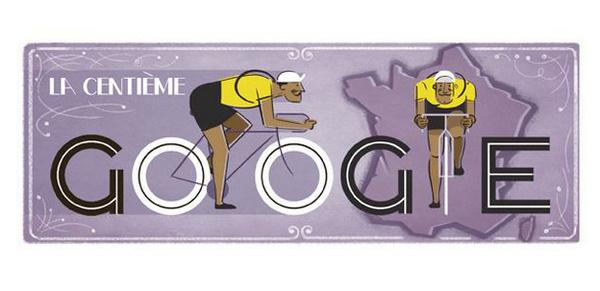 GoogleDoodleTDF #google #bikes #tour