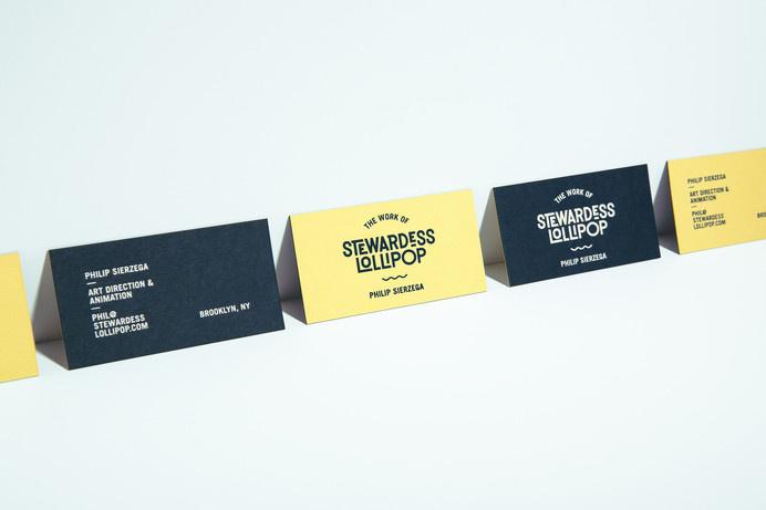 stewardess lollipop #brand identity #business card