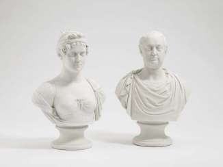 KING MAX I. JOSEPH, AND QUEEN KAROLINE OF BAVARIA, Nymphenburg, 1808/09, after the model by J. P. Melchior, loft, Adam Clair #porcelain