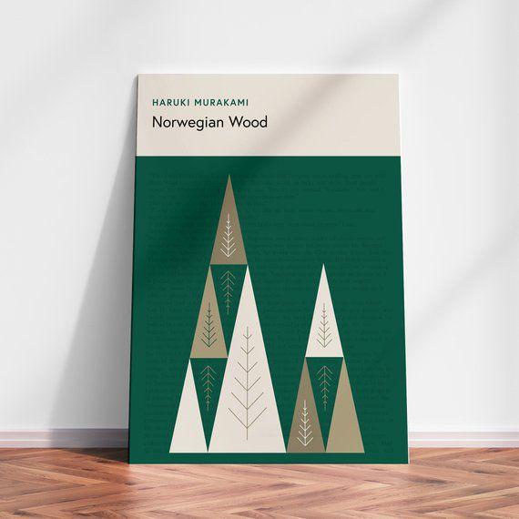 Norwegian Wood poster Haruki Murakami book cover print   Etsy