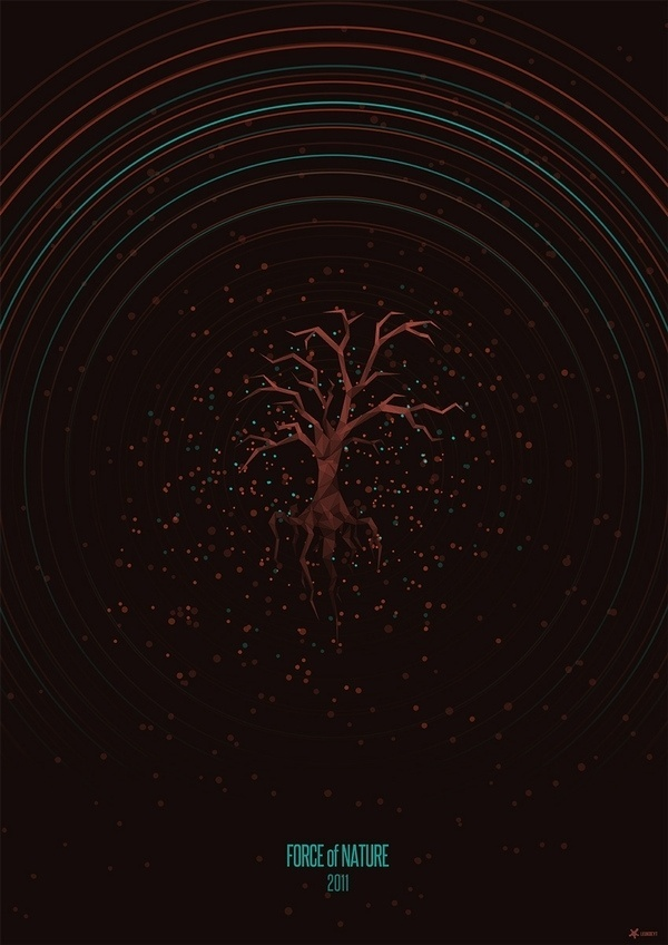 Force of Nature on the Behance Network #2011 #tree #of #force #stars #nature #poster