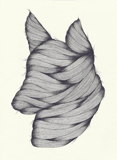 Art Sponge   A Blog Showcasing Inspirational Visual Art from Emerging Artists #justin #hair #mummy #bryannelson #drawing #dog
