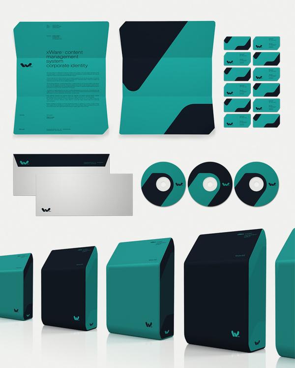 xWare Corporate Identity on Behance #brand #identity