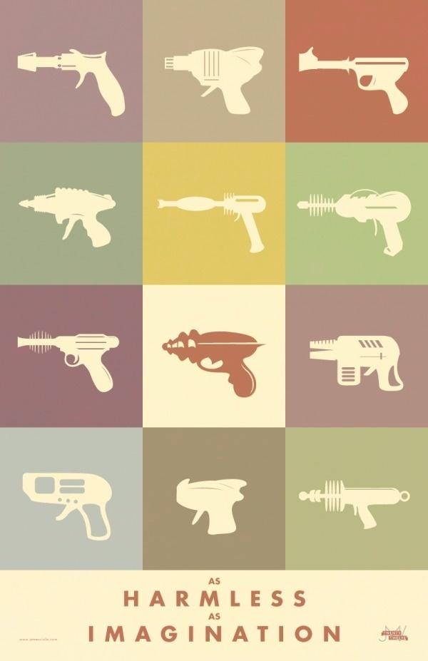 3 Sci-Fi Posters « A GRAPHIC DESIGN BLOG #red #gun #color #retro #sans #space #fiction #ray #scifi #vintage #science