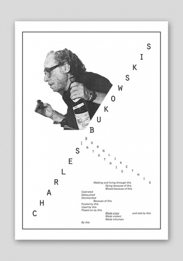 J.Arss #white #design #graphic #black #bukowski #poster #and