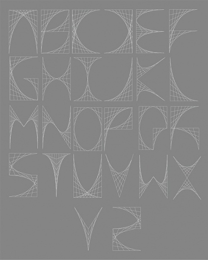 Ludd - Curvestitch Typography on Typography Served #alphabet #letters #typography