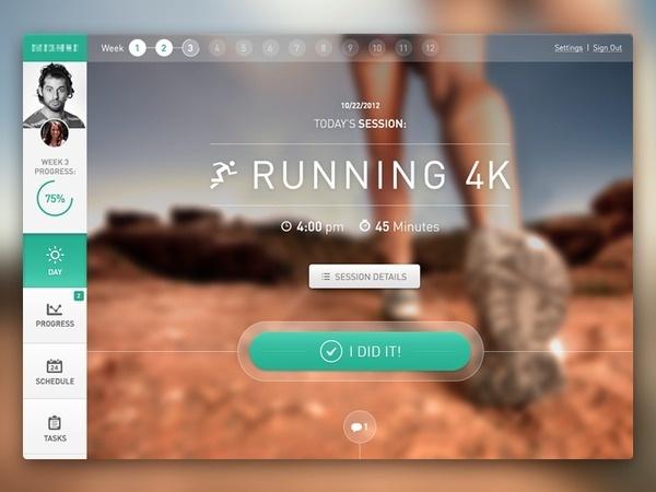 Fitness Application Web Dashboard #layout #web #ui
