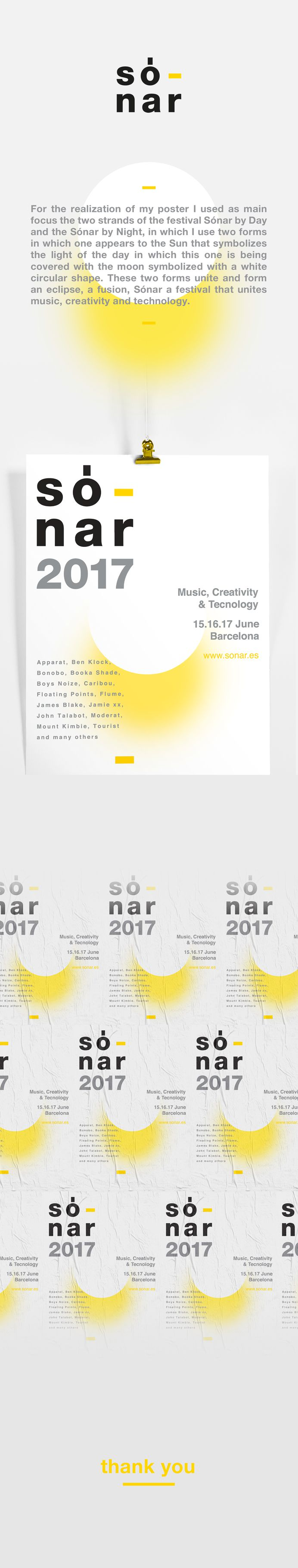 Sonar BCN - Poster on Behance #poster #sonar #barcelona #2017 #graphicdesign #yellow