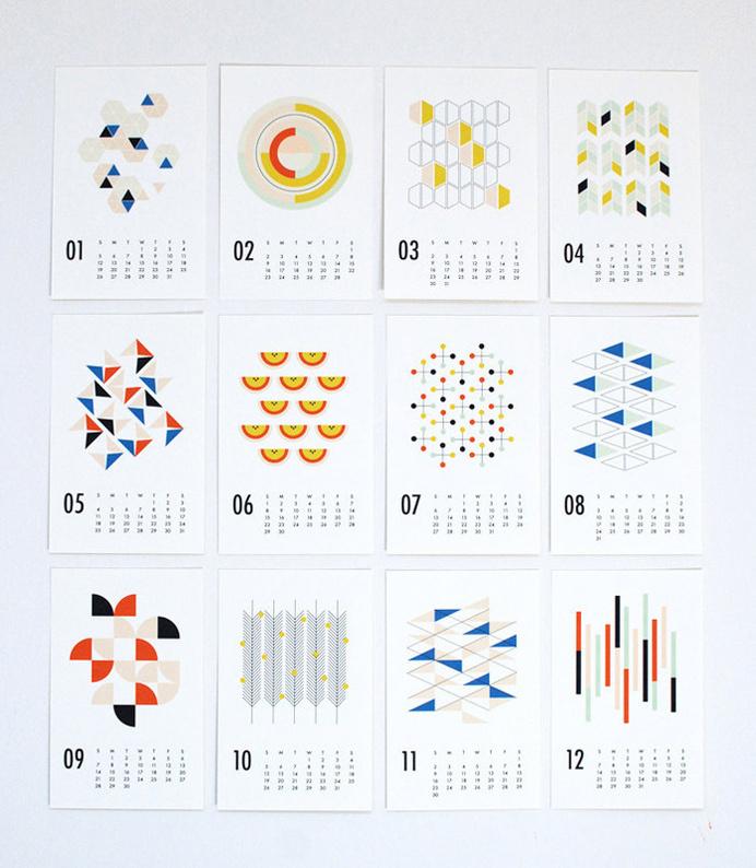 2014-Cal-Dozi-Shapes #calendar