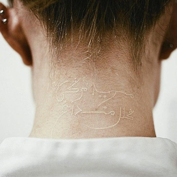 White Ink Tattoo #tattoo #ink #white