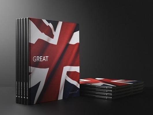 Corporate & Brand Identity - Estatum, Denmark on the Behance Network #red #flag #britain #great #brochure