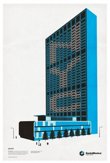 STAR GRID POSTERS '10/11 on the Behance Network #monica #building #poster #santa