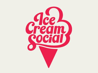 Visual Graphic Ice Cream Social #pink #cream #ice