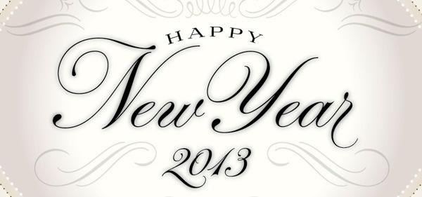 Happy New Year 2013 on Behance #script #emblem #brier #david #typography