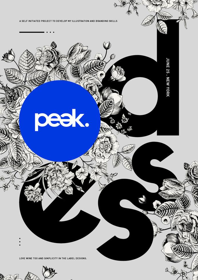 Peak. #design #poster
