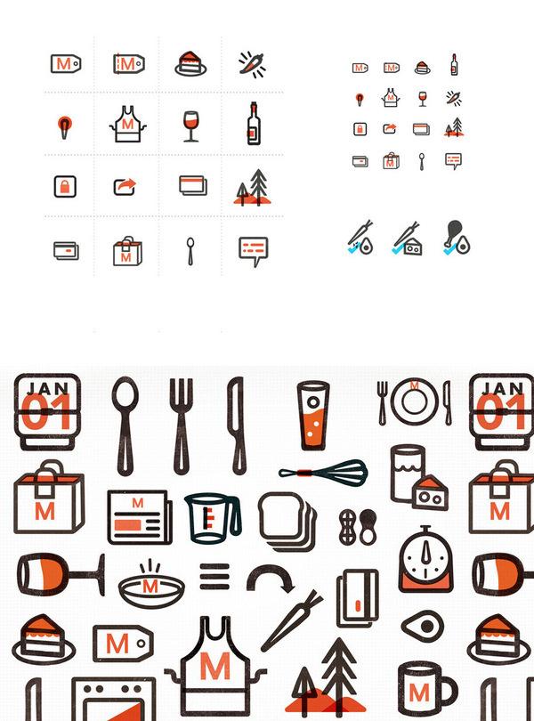 Munchery icons, Kelli Anderson #branding #icons #anderson #illustration #kelli