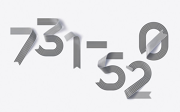 Shanghai Ranking Numerals #lettering #stripes #number #ribbon #type