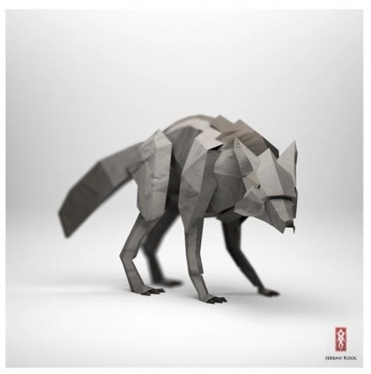 The Paper Fox on the Behance Network #jeremy #kool