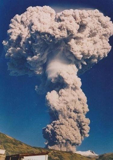 Volcano #blue #volcano #sky