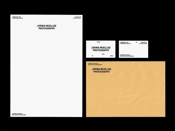 Bureau Collective – Jorma Mueller Photography #stationary #design #graphic #identity #minimal