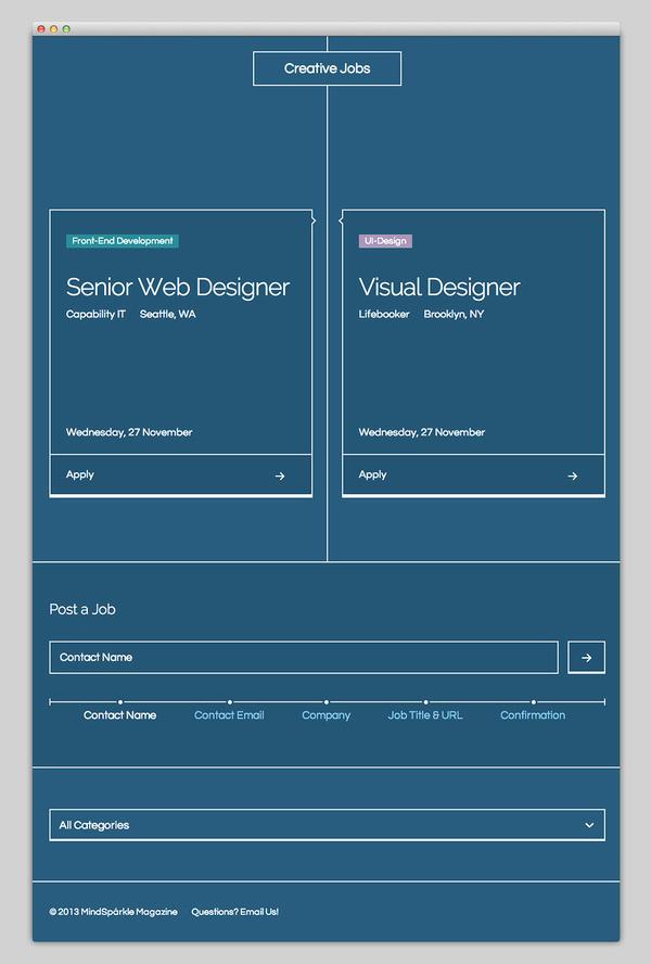 Creative Jobs #design #jobs #website #layout #web