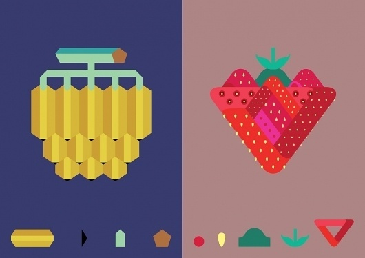 fruits : seellie-silly #illustration #vector