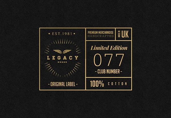 LEGACY Cap Co. // Branding on Behance #logomark #apparel #branding #retro #texture #brand #identity #gold #foil #logo #trend #foilblock #style