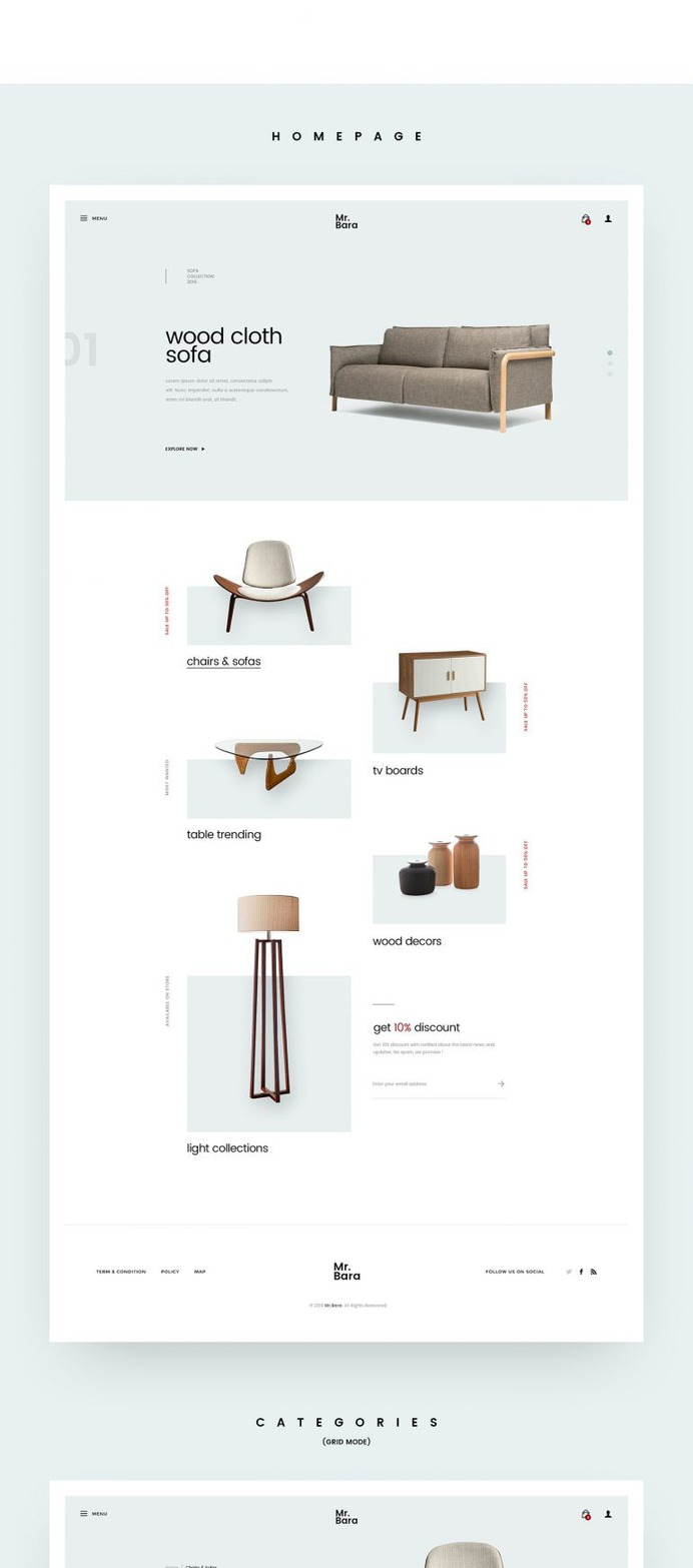 Furniture Site Concept