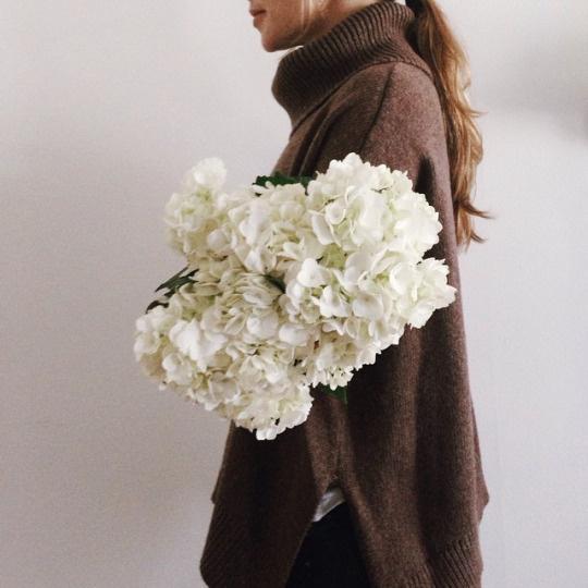 fashion, sweater, flowers