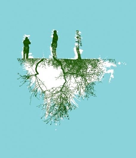 CHRIS KEEGAN #chris #tree #island #illustration #keegan