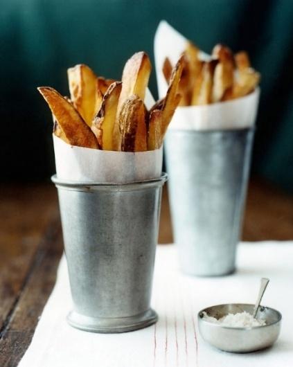 All Things Stylish #stylish #food #tin #chips #bucket #fries #potato #metal