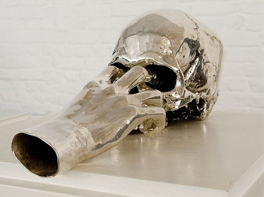 Jan Van Oost nca | nichido contemporary art #sculpture #art #metal #skull #hand