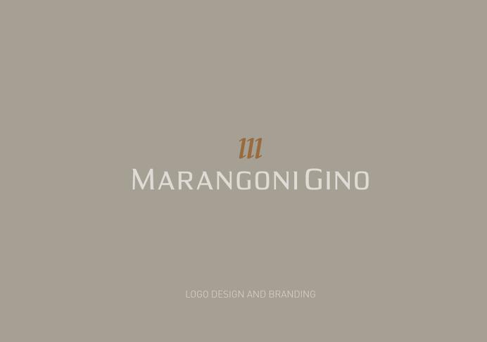 Marangoni Gino | Personal Brand. #logodesign #typeface #copper #hotfoil #elegant #sober #minimal