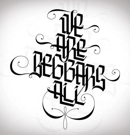 Inspirational Showcase of Amazing Typography Designs #calligraphy #white #black #and #angular #typography