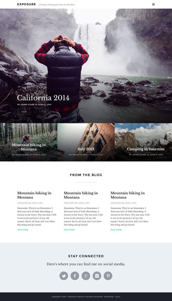 Exposure-theme-homepage #geometry #design #grid #blog #squares #web