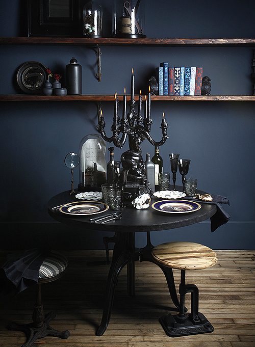 MicheleVarian_entiretable_DS #interior #design #decor #deco #dark #decoration