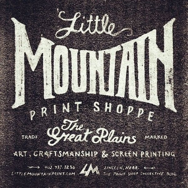 Little Mountain Print Shoppe #identity #typography
