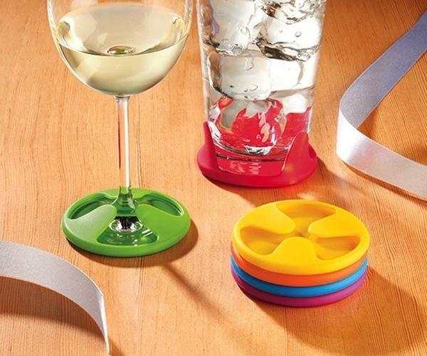 Silicone Grip Coaster Set #gadget