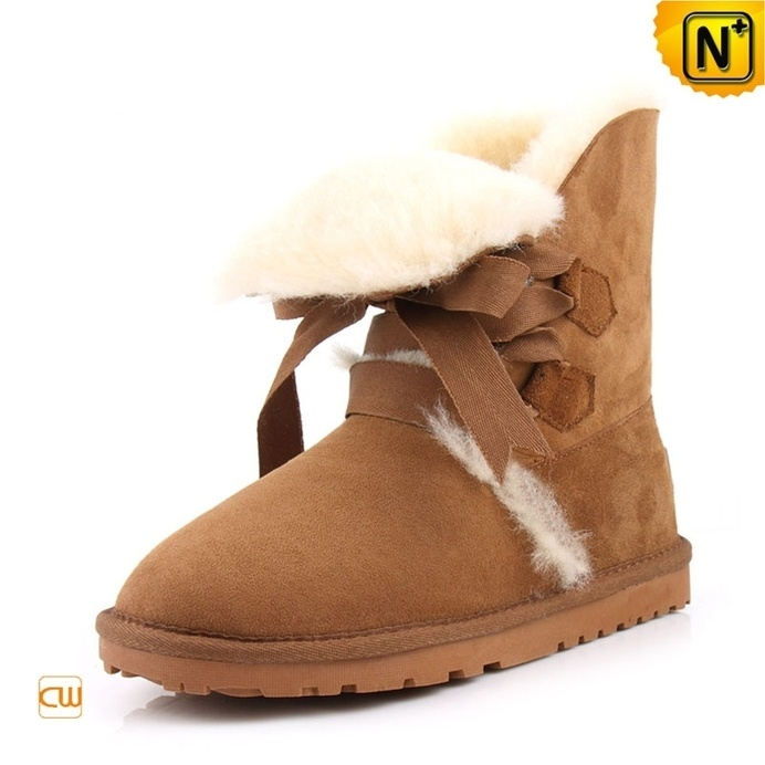 Fur Lined Leather Boots for Women CW314416 #boots #fur #lined